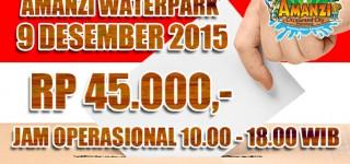 9 Desember 2015, Harga Tiket Amanzi Rp 45.000,-