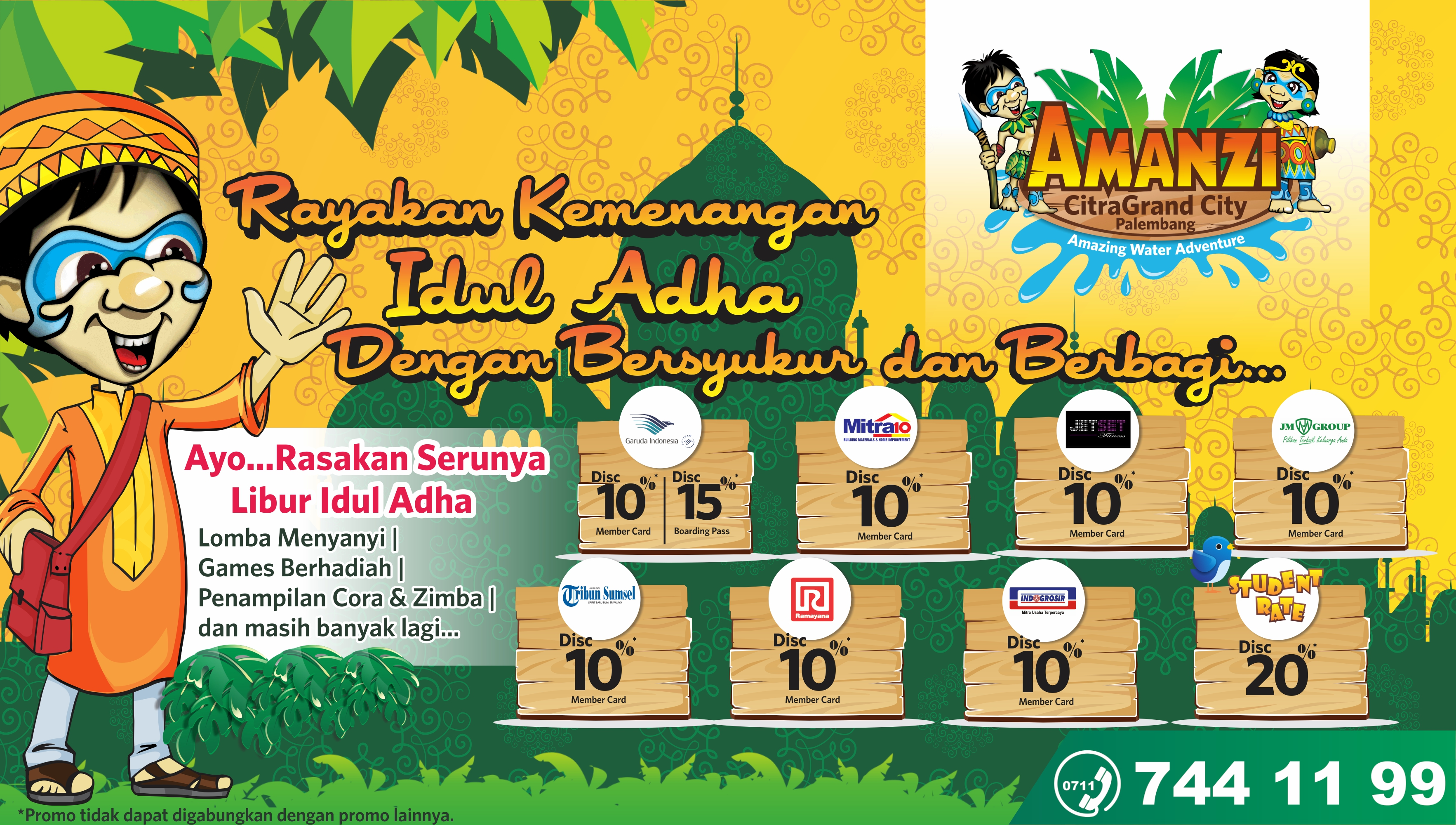 Libur Idul Adha Amanzi WaterPark Geber Amazing Promo