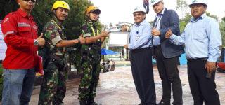Flying Fox Amanzi Lulus Uji Kelayakan Dari The Camp Lanud Palembang